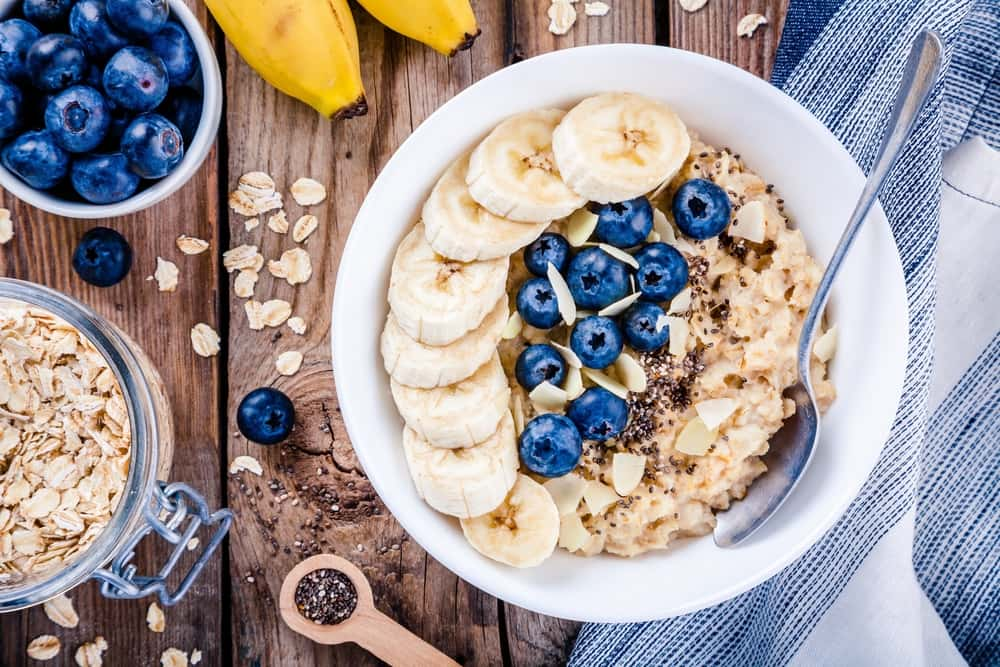 Bowl of Oatmeal with Fruits