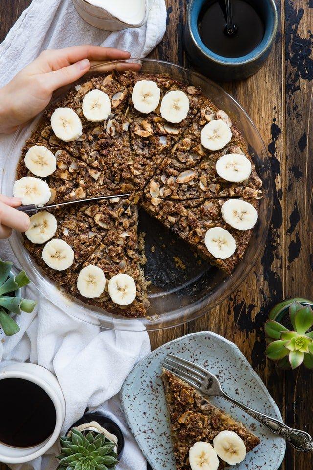 banana oats cake for dog
