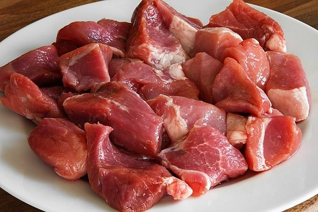 diced pork meat